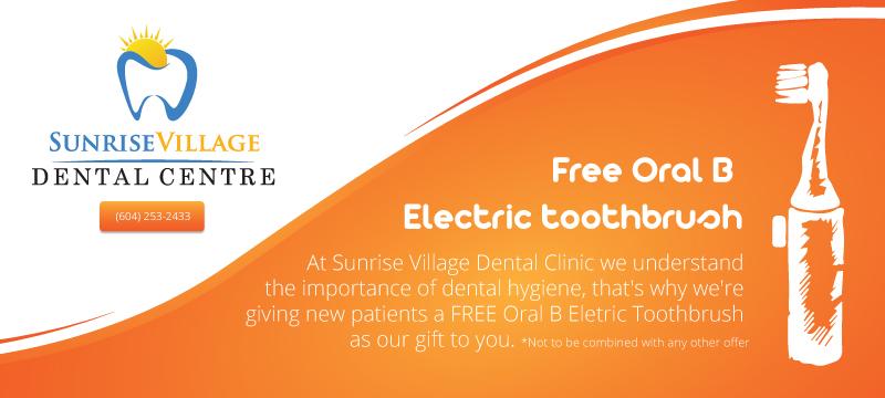 Free Electric Toothbrush - Sunrise Village Dental Clinic